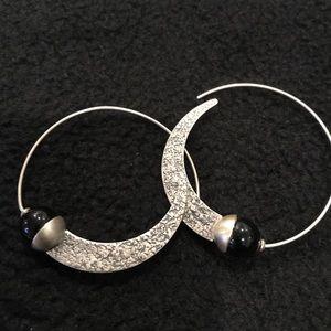 Silpada sterling & chalcedony stone earrings